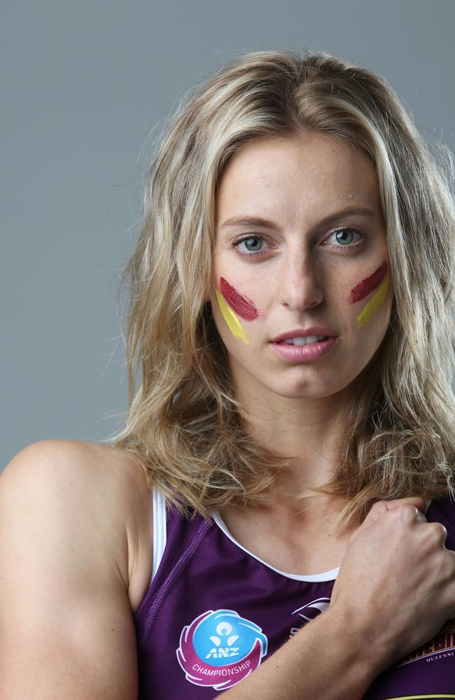 This is Laura in her Queensland Firebirds gear. Photo Ric Frearson