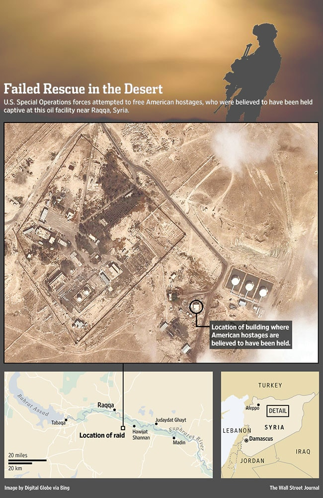 Battle plan: Where James Foley and Steven Sotloff were believed to have been held prisoner. Source: Wall St Journal