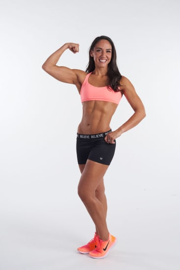 PICS BY ISAGENIX INTERNATIONAL / CATERS NEWS - (PICTURED: MANDATORY BYLINE- Rachel now at her slimmest under ten stone) - A mum has shed a staggering seven stone (100lb) to become a figure competitor thanks to a shocking wedding photo that helped her realise she was obese. Rachel Krebs, 32, from Bellingham, Washington, USA, decided to transform her life after seeing the image on her friends big day two years ago. She weighed over 16 stone (229lb) after piling on the pounds from two pregnancies giving her a BMI of 47.1, which put her into the morbidly obese category of the scale. After seeing the embarrassing photograph from her friends big day and constant fatigue that was stopping her from being the mother she wanted to be, she decided Enough was enough. - SEE CATERS COPY