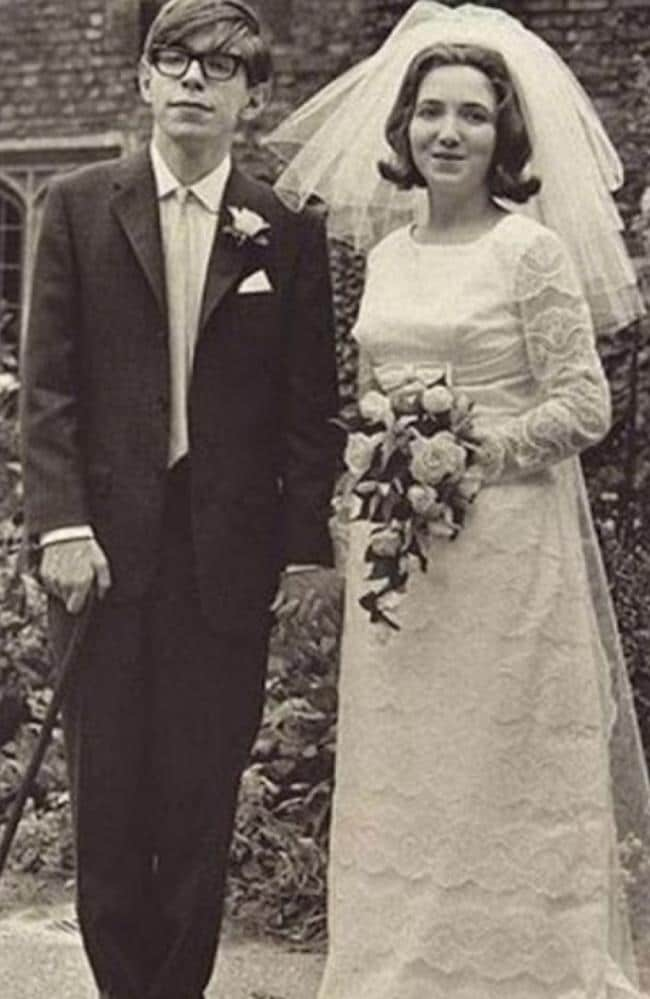Stephen Hawking and his first wife Jane on their wedding day.
