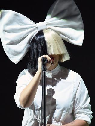 Singer Sia is up against Flume for Apple Music Song of the Year. Picture: AFP