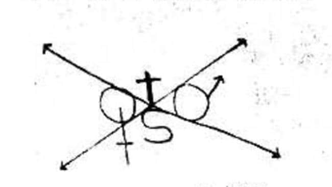 Berkowitz included this mysterious symbol on some of his letters.