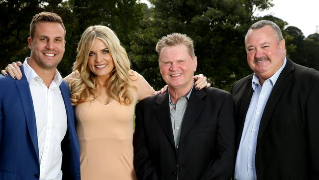 Footy show fortunes: Beau Ryan — unclear; Erin Molan — big promotion. Paul Vautin — gooooone. Daryl Brohman — out of contract. Picture: Gregg Porteous