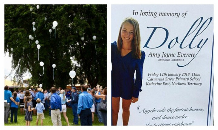 'Dolly saw the good in this world': Hundreds farewell the beautiful teen