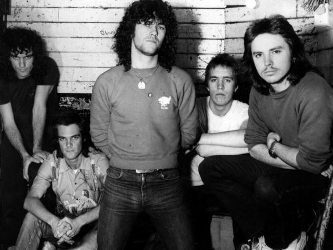Cold Chisel in 1978: Ian Moss, Don Walker, Jimmy Barnes, Steve Prestwich and Phil Small. Picture: News Corp Australia