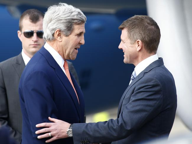 US Secretary of State John Kerry meets with NSW Premier Mike Baird. Pic: Bradley Hunter.