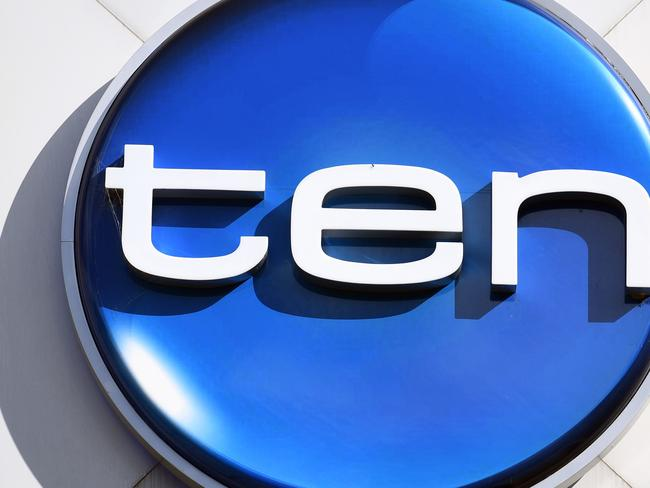 The Network Ten logo is displayed on a building in Sydney on Tuesday, June 13, 2017. Ten Network's future has been thrown into doubt after its billionaire shareholders Lachlan Murdoch and Bruce Gordon decided not to support a new funding deal. (AAP Image/Paul Miller) NO ARCHIVING