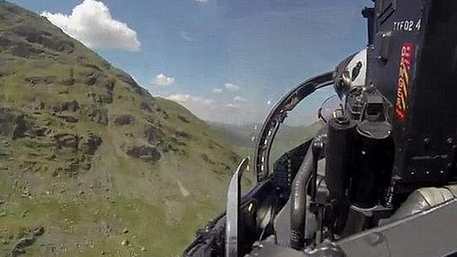 Twisting and turning at 40,000ft ... Inside the RAF Typhoon fighter. Picture: Metropolis Entertainment