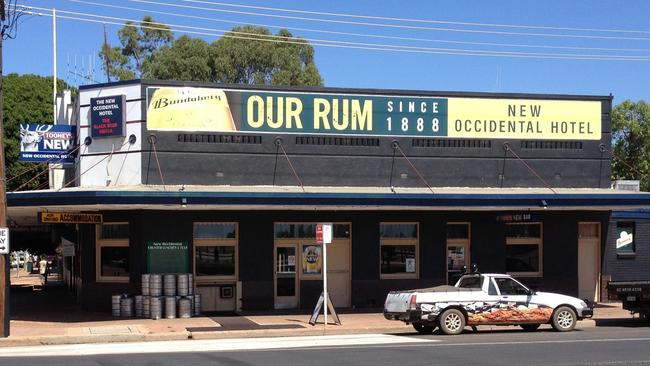 The New Occidental Hotel in Cobar before the blaze, as captured on the pub's Facebook page.