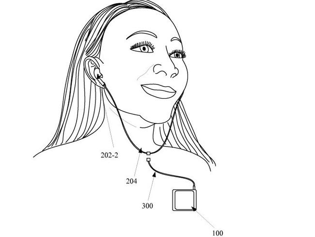 Sketch from a recently approved Apple patent.