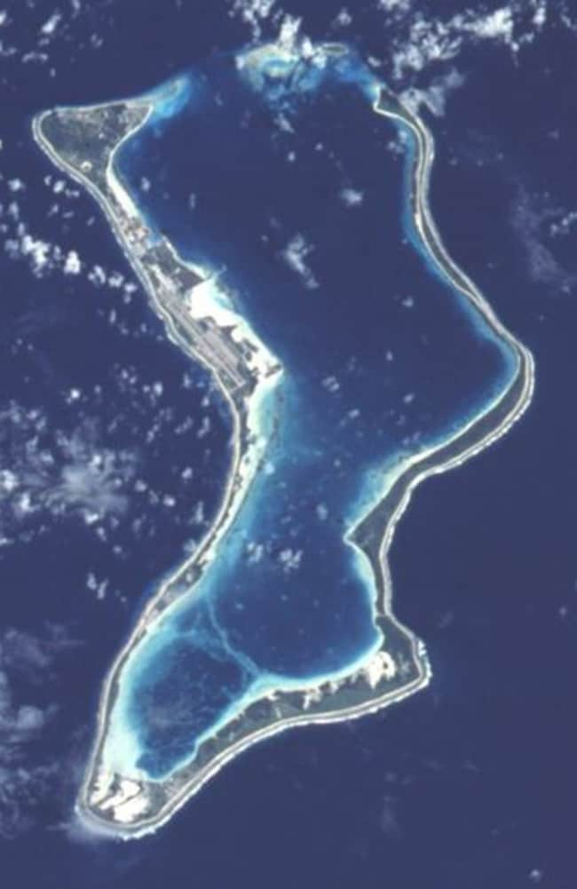Diego Garcia ... the remote wishbone-shaped Indian Ocean island is home to a major US military base.