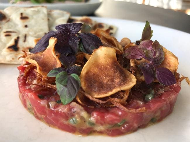One Penny Red's beef tartare. Picture: Jenifer Jagielski