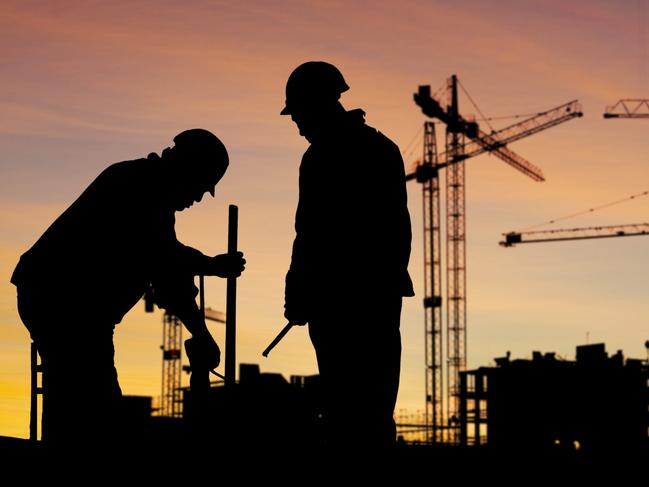Generic image of construction workers on a building site. Picture: Thinkstock