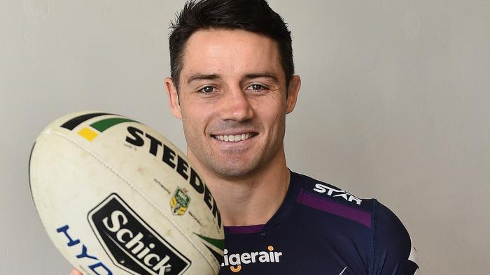 Cooper Cronk is seen during a Melbourne Storm media session at AAMI Park in Melbourne, Monday, Sept. 26. 2016. The Melbourne Storm will play the Cronulla Sharks in this weekend's NRL Grand Final. (AAP Image/Julian Smith) NO ARCHIVING