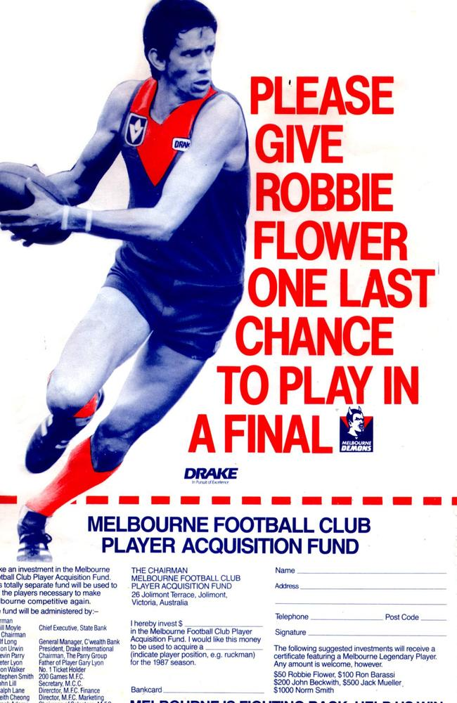Membership push for Melbourne Football Club in 1987.