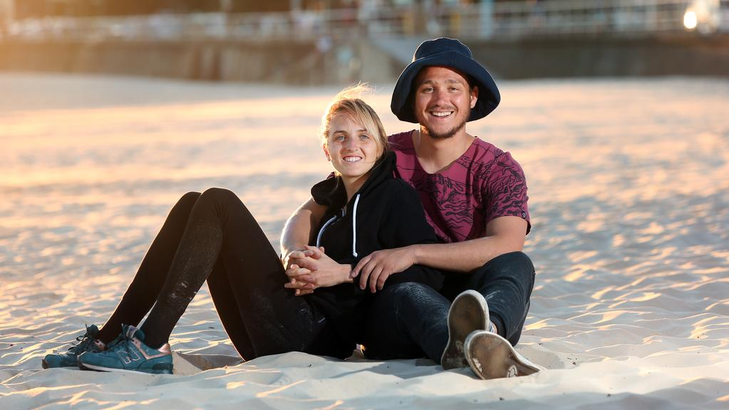 Abril Benedit and Facundo Arguello gave up their careers in psychology and marketing in Argentina to travel the world and spend more time with one another. Picture: Richard Dobson