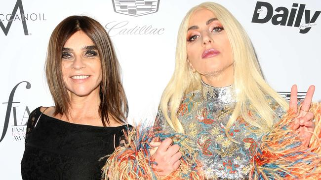 Carine Roitfeld (left) owns the smoky eye, even if everything else is a mess. Picture: Frederick M. Brown/Getty Images/AFP