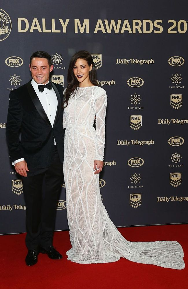 Cooper Cronk and Tara Rushton at the 2016 Dally M Awards (Getty Images)