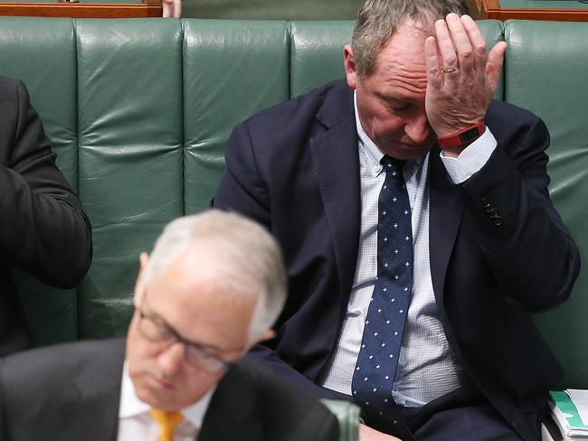 The poll comes as the Coalition became embroiled in citizenship woes via Deputy PM Barnaby Joyce. Picture: Kym Smith