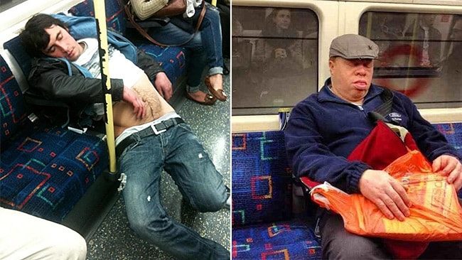 We know the feeling. Picture: SleepyCommuters/Twitter