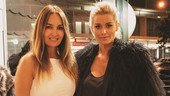 Gail Elliot and Cheyenne Tozzi looking glam at the Little Joe opening in Double Bay.