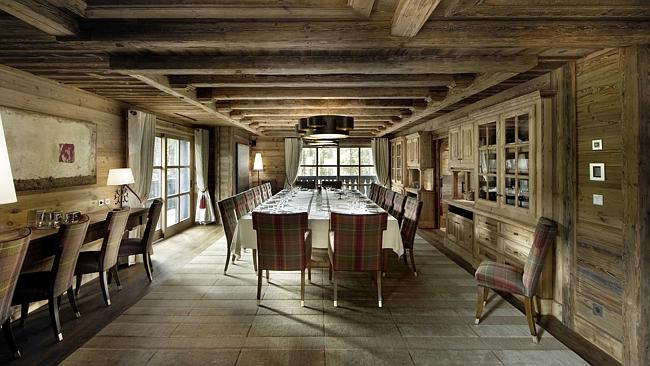 The dining table can accommodate up to 24 people.