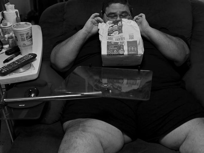 Garcia said his weight battles were more than just food-related. Picture: Lisa Krantz/Zuma/Australscope