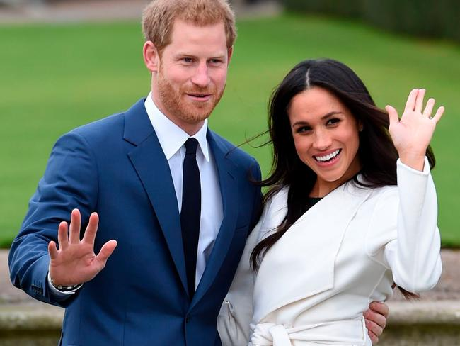 Britain's Prince Harry, left, and Meghan Markle. Picture: AP