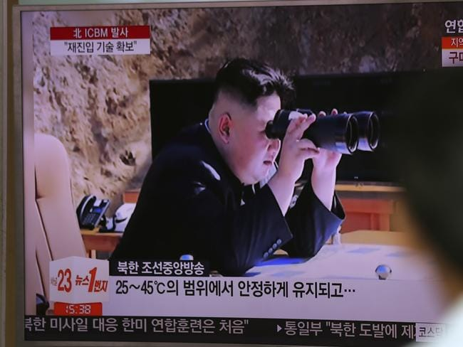 "North Korea's Kim Jong-un vowed his nation would ""demonstrate its mettle to the U.S."" and never put its weapons programs up for negotiations. Picture: AP"