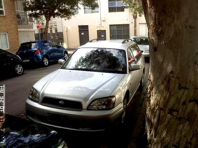 Images provided by City of Sydney Council show a photograph taken by a parking inspector at the time of the first fine on Monday.