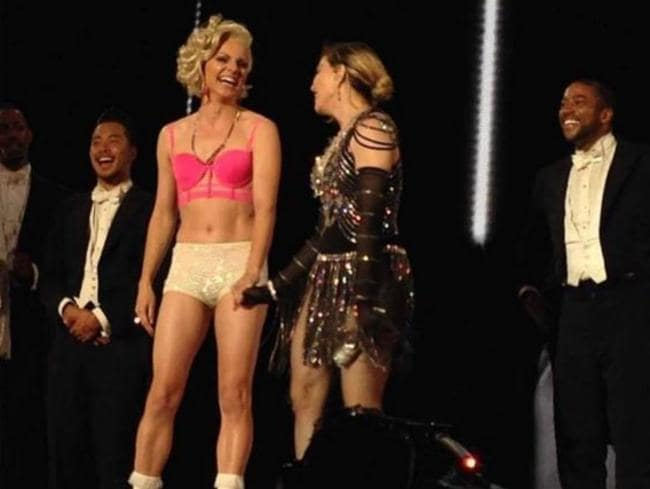 Madonna made Courtney Act her Unapolgetic B---h last night Picture: Instagram