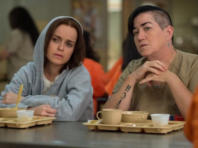 Mates ... Pennsatucky (Taryn Manning) and Big Boo (Lea deLaria) appear in the new season. Picture: Netflix