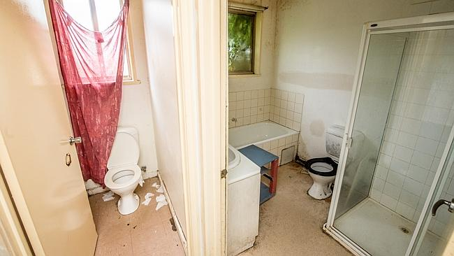 The bathrooms were left in a putrid state.
