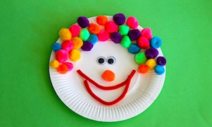 Paper plate clown & Paper plate clown - Kidspot