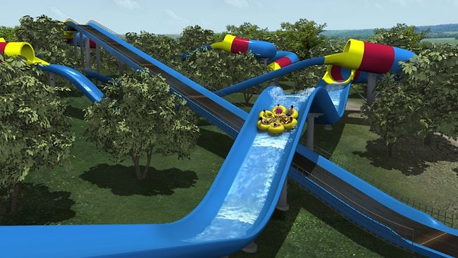 The slide stretches for more than half a kilometre over two acres of land.