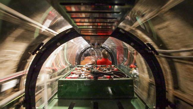 The tiny trains and tunnels are not suited to those who dislike confined spaces. AFP/ Daniel Leal-Olivas