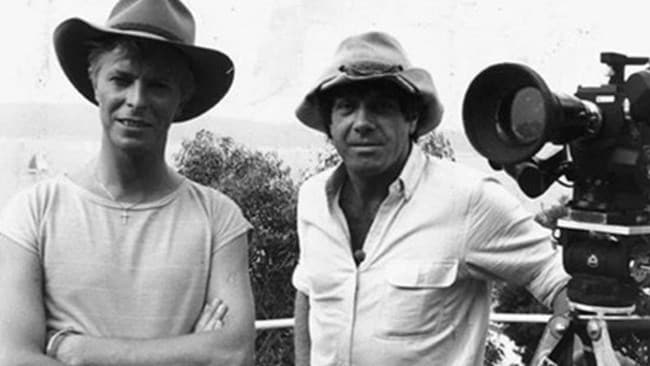 Old friends ... David Bowie and Molly Meldrum in 1983 for a Countdown interview.