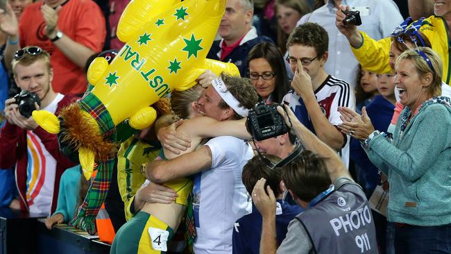 Pearson couldn't hide her joy after taking out the gold medal. Picture: Adam Head.