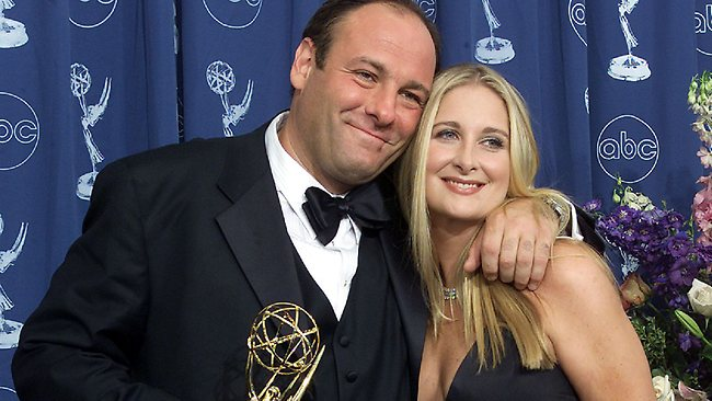 james Gandolfini with then-wife Marcy at the 2000 Emmys where he won a best actor award. AFP / Scott Nelson