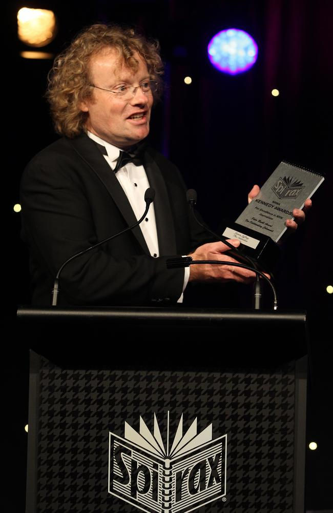The Australian's James Jeffrey won outstanding columnist at the 2015 Kennedy Awards for Excellence in NSW Journalism held at Royal Randwick Racecourse, Sydney. Picture: Jonathan Ng