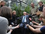 David Attenborough at the Melbourne Zoo meeting a Phasmid or Lord Howe Island Stick Insect, thought to have been extinct.
