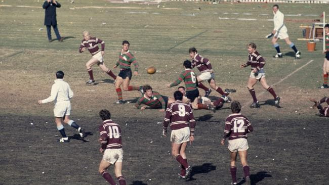 Scene from South v Manly first grade RL Grand Final at the SCG in Sydney in 1970.