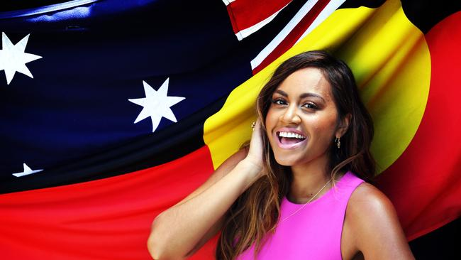 Jessica Mauboy has belted out the national anthem on a fair few occasions, including this morning on top of the Sydney Harbour Bridge. Image: Craig Greenhill