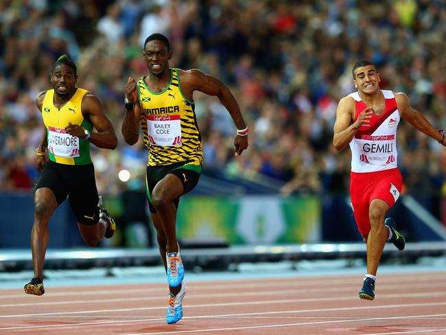 Kemar Bailey-Cole powers ahead to claim a gold medal.