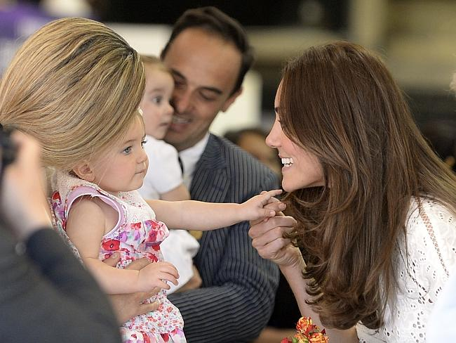 Kate meets a young fan on her visit to the Sydney Royal Easter Show.