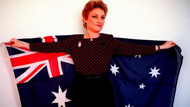 Pauline Hanson opposed multiculturalism in 1997, when this photograph was taken, and she opposes it still. Pic Ray Strange.