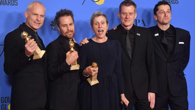 The team behind Three Billboards were thrilled with their night, but Hollywood should be doing better. Picture: Frederic J. Brown/AFP