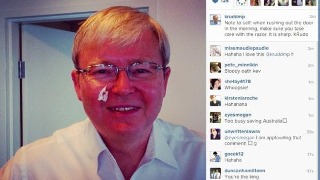 Kevin Rudd's infamous shaving selfie attracted attention from across the world.