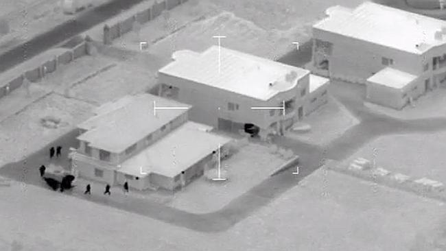 Carabooda organised crime raids. Infra-red image of police raiding a Carabooda property early this morning. Picture: WA Police.