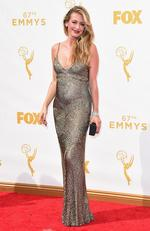 Cat Deeley attends the 67th Annual Primetime Emmy Awards in Los Angeles. Picture: Getty